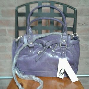 Nine West Purple Convertible Crossbody Handbag